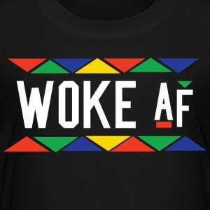 Woke af - Tribal Design (White Letters) - Kids' Premium T-Shirt