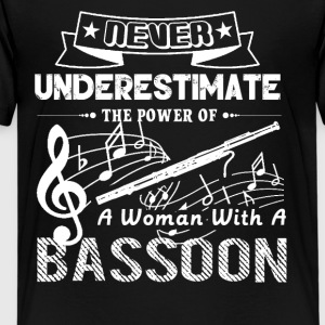Never Underestimate Woman With Bassoon Shirt - Kids' Premium T-Shirt