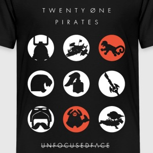Twenty-Øne Pirates: UnfocusedFace Official Logo - Kids' Premium T-Shirt