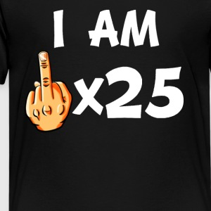 Middle Finger Times 25 Funny 25th Birthday - Kids' Premium T-Shirt