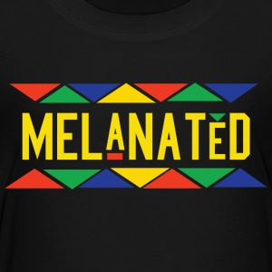Melanated (Yellow Letters) - Kids' Premium T-Shirt