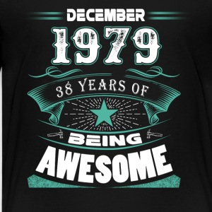 December 1979 - 38 years of being awesome - Kids' Premium T-Shirt