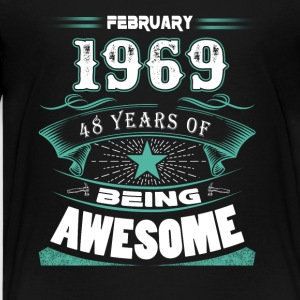 February 1969 - 48 years of being awesome (v.2017) - Kids' Premium T-Shirt