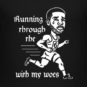 Running through the with my woes - Kids' Premium T-Shirt