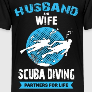 Husband And Wife Scuba Diving Partners Shirts - Kids' Premium T-Shirt