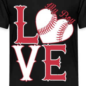 I Love My Softball Boy Shirt - Kids' Premium T-Shirt