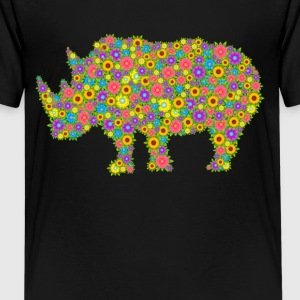 Rhinoceros Flower Shirts - Kids' Premium T-Shirt