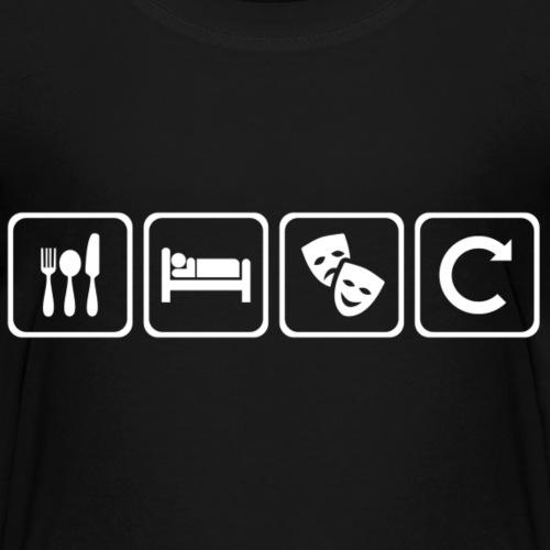 Eat. Sleep. Theatre. Repeat. - Kids' Premium T-Shirt