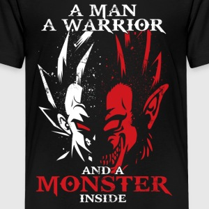 dragon ball majin vegeta monster in side - Kids' Premium T-Shirt