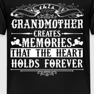 Grandmother Created Memories Shirt - Kids' Premium T-Shirt