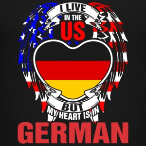 I Live In The Us But My Heart Is In German - Kids' Premium T-Shirt