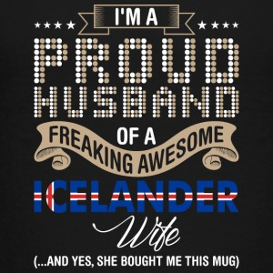 Im A Proud Husband Of A Freaking Awesome Icelander - Kids' Premium T-Shirt