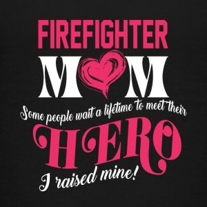 Super Hero Firefighter Mom I Raised Mine T Shirt - Kids' Premium T-Shirt