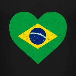 Brazil Flag Shirt Heart - Brazilian Shirt - Kids' Premium T-Shirt