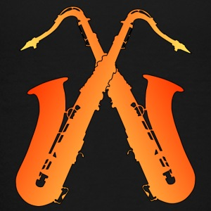 crossed saxophones - Kids' Premium T-Shirt