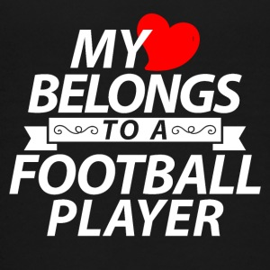 My heart belongs to a Football player - Kids' Premium T-Shirt