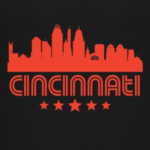 Retro Cincinnati Skyline - Kids' Premium T-Shirt