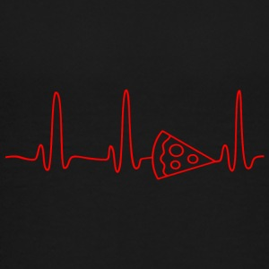 EKG HEARTBEAT PIZZA red - Kids' Premium T-Shirt