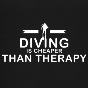 Diving is cheaper than therapy - Kids' Premium T-Shirt