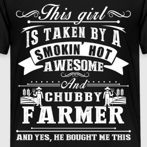 This Girl Is Taken By A Smokin Hot Awesome Farmer - Kids' Premium T-Shirt