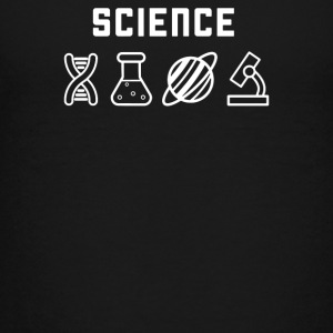 Science DNA and Microscope - Kids' Premium T-Shirt