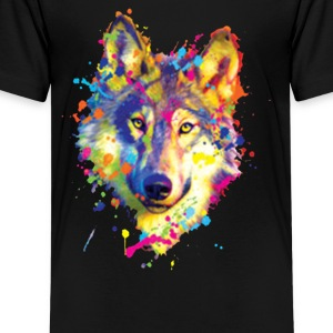 Wolf Neon Bright Colors Animal Lovers - Kids' Premium T-Shirt