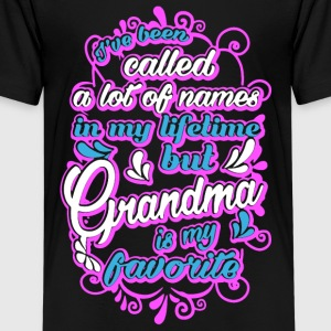 Grandma Is My Favorite Name Shirt - Kids' Premium T-Shirt