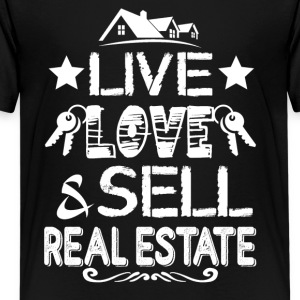 Live Love Sell Real Estate Shirt - Kids' Premium T-Shirt