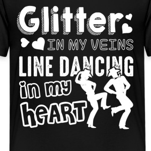 Glitter In My Veins Line Dancing Shirt - Kids' Premium T-Shirt