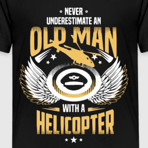 OLD MAN HELICOPTER PILOT SHIRT - Kids' Premium T-Shirt