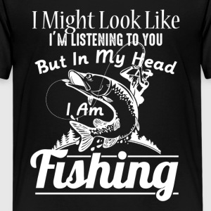 IN MY HEAD I'M FISHING SHIRT - Kids' Premium T-Shirt