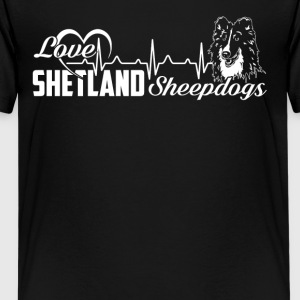 Love Shetland Sheepdog Tshirt - Kids' Premium T-Shirt
