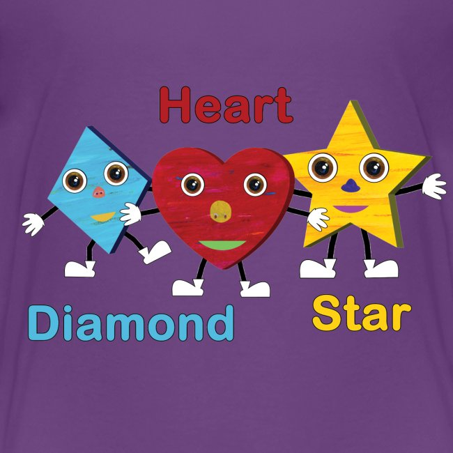 Diamond, Heart, Star