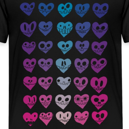 Skele-Fun! Hearts Edition - Kids' Premium T-Shirt