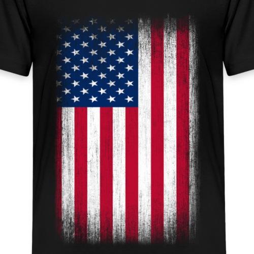 USA Flag Grunge Retro Look - Kids' Premium T-Shirt