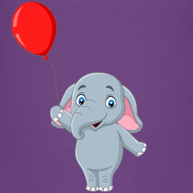 Baby Elephant Holding A Balloon
