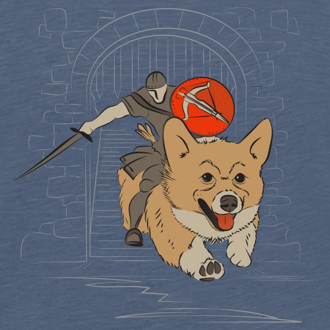 A Corgi Knight charges into battle
