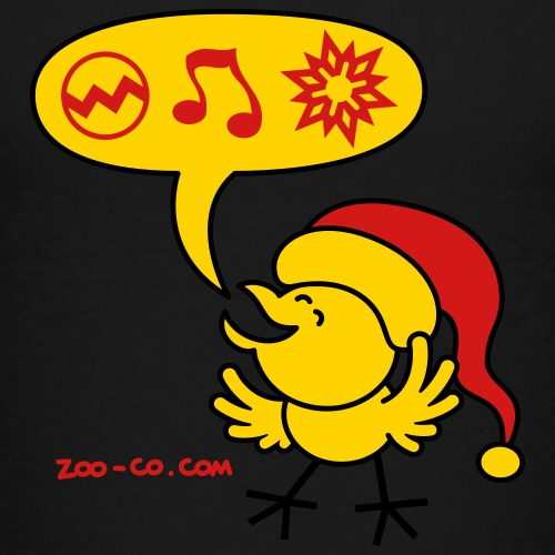 Christmas Chicken making a Wish - Kids' Premium T-Shirt
