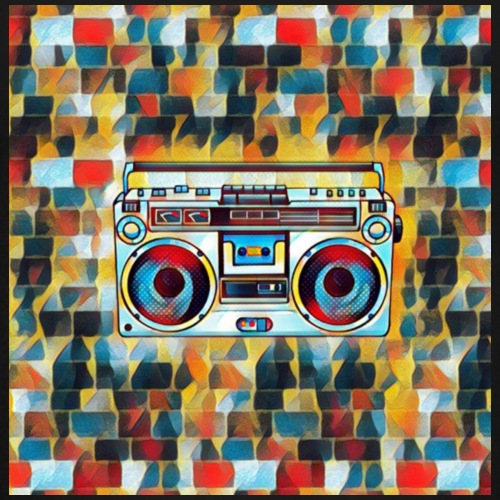 Cassette Player artwork Graffiti Design - Kids' Premium T-Shirt