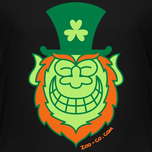St Paddy's Day Leprechaun Grinning from Ear to Ear - Kids' Premium T-Shirt