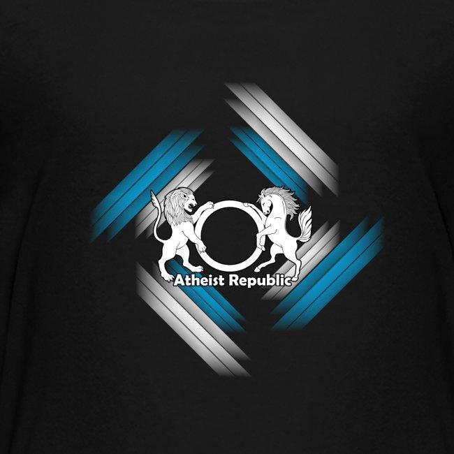 Atheist Republic Logo - Blue & White Stripes