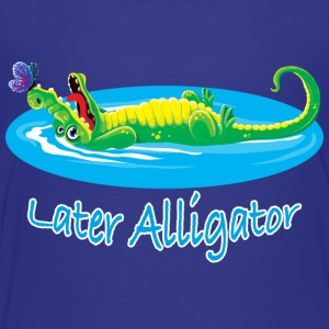 Cute later alligator and butterfly design for kids - Kids' Premium T-Shirt