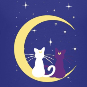TWINS CATS MOON - Kids' Premium T-Shirt