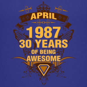 April 1987 30 Years of Being Awesome - Kids' Premium T-Shirt