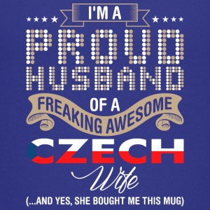 Im A Proud Husband Of A Freaking Awesome Czech Wif - Kids' Premium T-Shirt