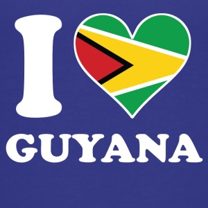 I Love Guyana Guyanese Flag Heart - Kids' Premium T-Shirt