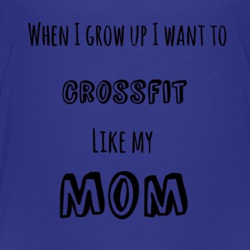 crossfit like mom (black) - Kids' Premium T-Shirt