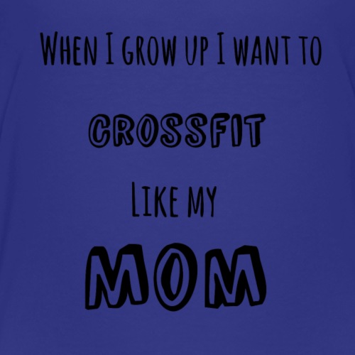 crossfit like mom (black) - Kids' Premium T-Shirt
