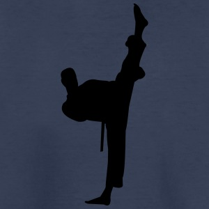 Kung fu fighter silhouette - Kids' Premium T-Shirt
