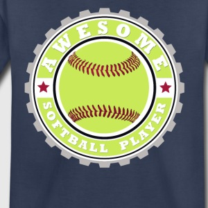 Symbol of an Awesome Softball Player - Kids' Premium T-Shirt